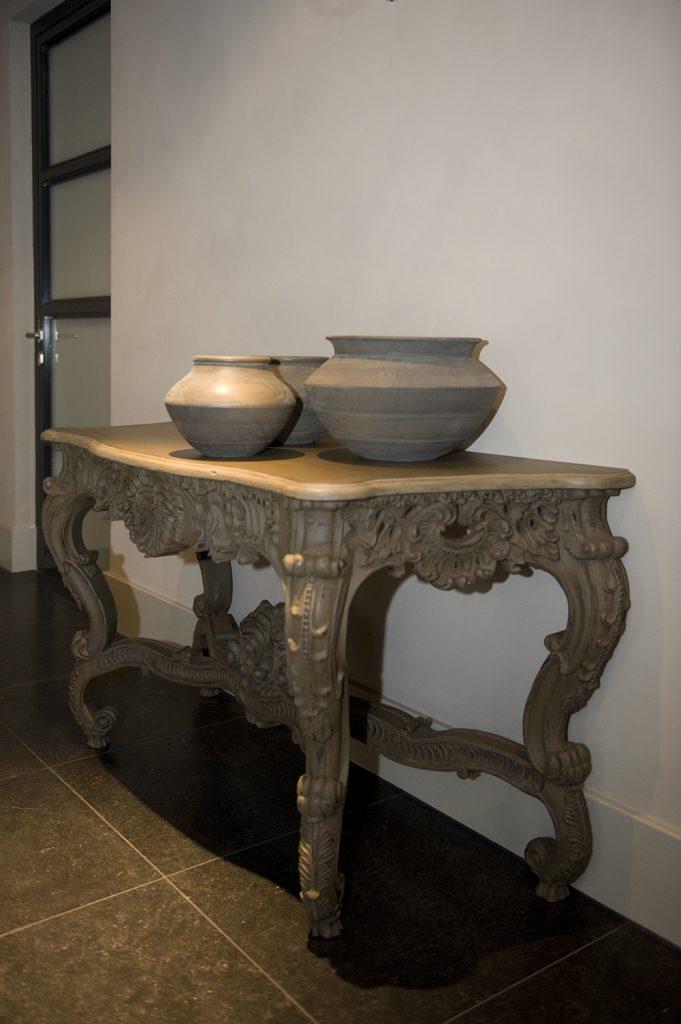 tafel potten interieur meubilair