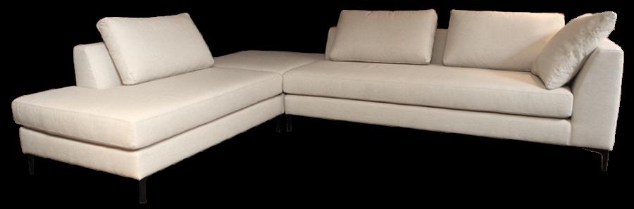 hoekbank nieuw wit beige modern